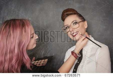 Stylist Making Makeup