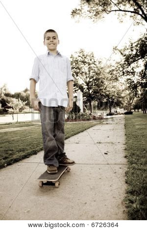 Boy On His Skateboard