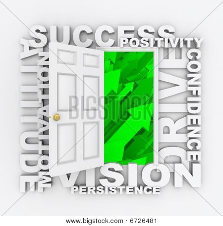 Open Door To Success - Positive Qualities