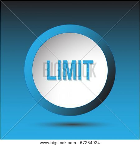 Limit. Plastic button. Vector illustration.