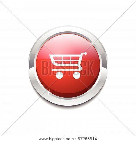 Shopping Circular Vector Red Web Icon Button