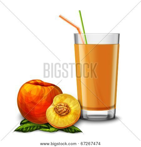 Peach juice glass