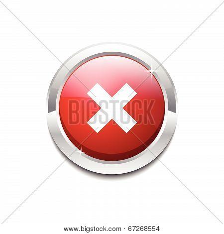 Multiply Circular Red Vector Web Button Icon