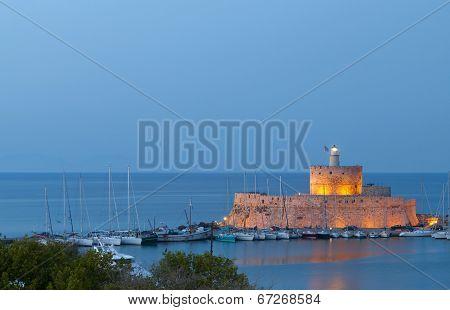 Rhodes island in Greece