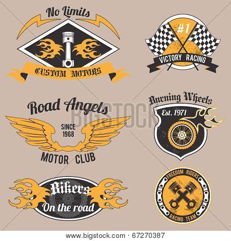Motorcycle design badges
