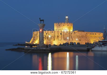 Port of Rhodes island in Greece