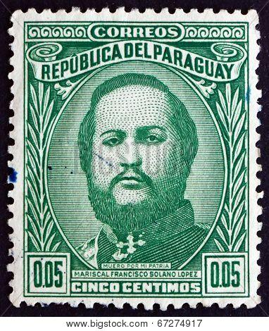 Postage Stamp Paraguay 1947 Marshal Francisco Solano Lopez