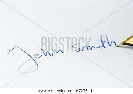 Conceptual image containing a signature made ??with a pen