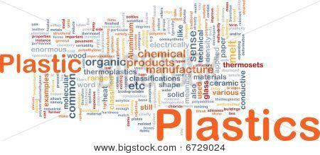 Plastics Material Background Concept