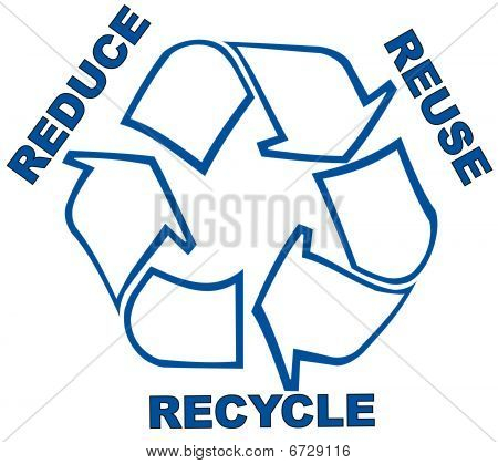 Reduce Reuse Recycle.