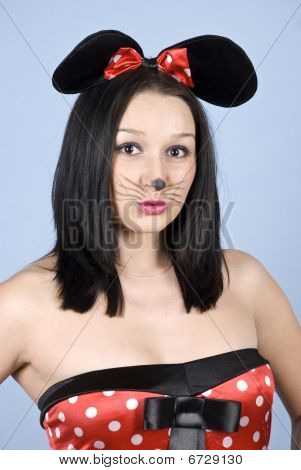 Mouse Woman Makeup