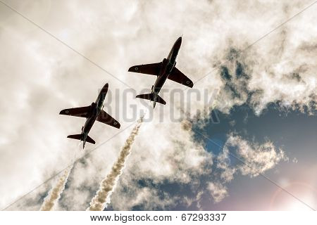 Red Arrow Aerobatic Flight Show In Tallinn, Estonia