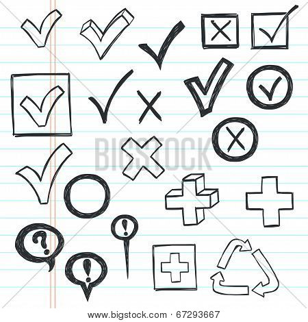 Doodle checkmarks