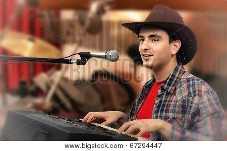 Cowboy Singing Western Ballads