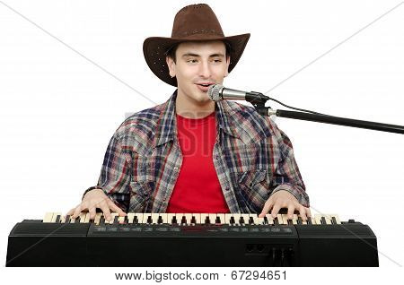 Perky Cowboy Singing Country Songs