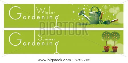 Gardening Themed Banners