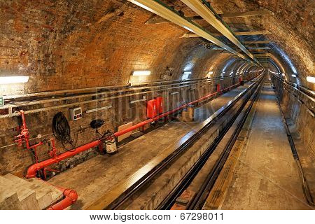 Historical Tunnel Line In Istanbul