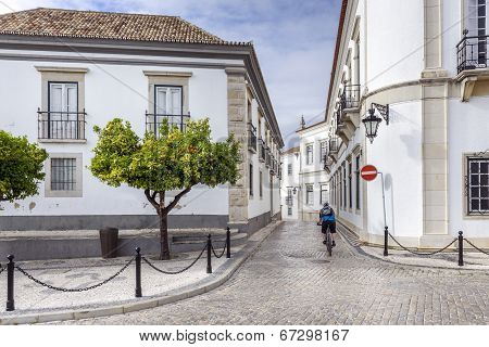 Old Town District In Historic Town Faro, Portugal