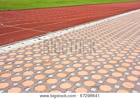 Running Track  With Details Of  Design Stone Floor Tiles