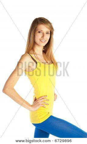 Pretty Sportive Young Woman