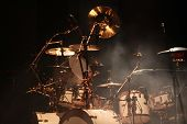 foto of drum-set  - Set of drums on stage - JPG
