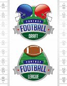 American Fantasy Football Illustrations poster