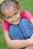 stock photo of cornrow  - Pretty Black Girl - JPG