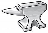 stock photo of anvil  - anvil design vector illustration on white background - JPG