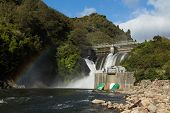 pic of hydro  - Water been release out of a New Zealand hydro power dams - JPG