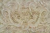 stock photo of dragon  - Beautiful Chinese Golden Dragon Art - JPG