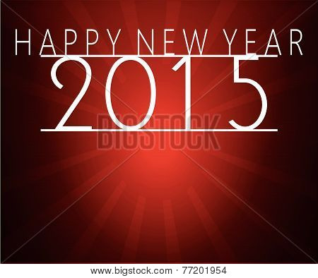 Happy New Year Message Red 2015