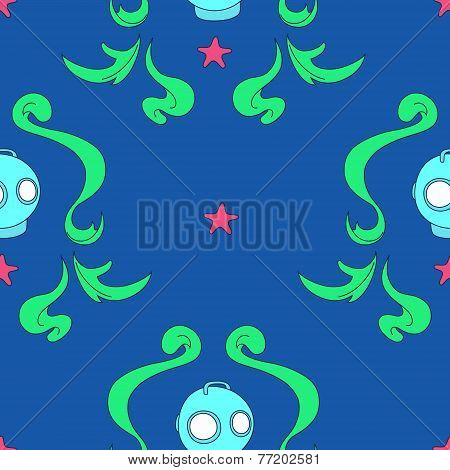 Under the sea seamless pattern
