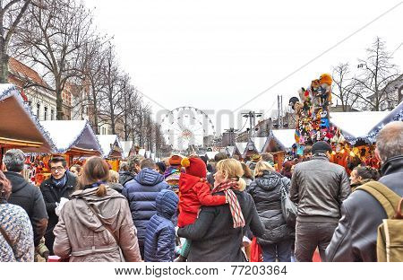 Christmas Market In Brussels, Winter Wonders.
