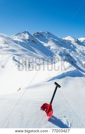 Avalanche Shovel In The Snow
