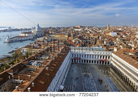 Magnificent View Of The Old Venice From A Height