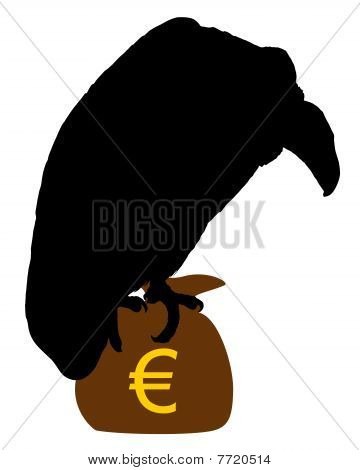 Vulture With Moneybag
