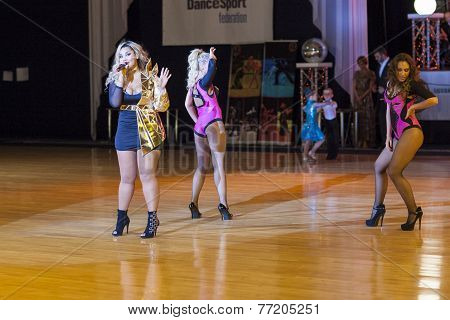 Minsk-belarus, October 4, 2014: Kornelia Mango (russian Federation Singer) Performs With Her Show -b