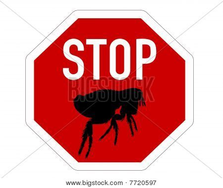 Stop Sign For Fleas