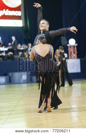 Minsk-belarus, October 4,2014: Unidentified Professional Dance Couple Performs