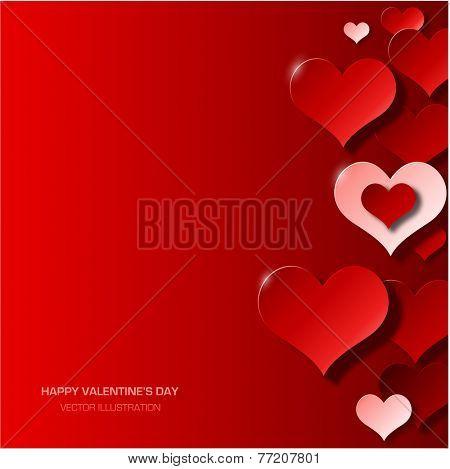 Modern red valentine's day background