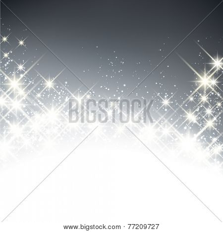 Shiny starry christmas background. Vector winter Illustration.