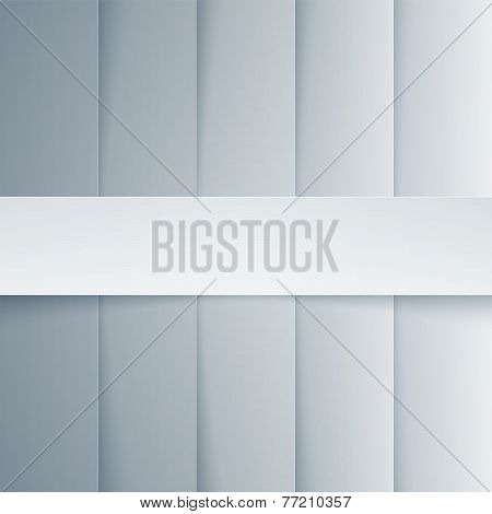Gray and white paper rectangle shapes background