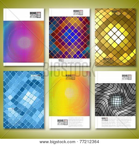 abstract mosaics. Brochure, flyer or report for business, template vector