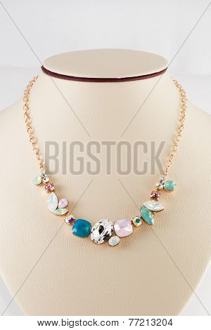 Golden Necklace And Pendant
