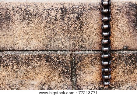 Bicycle Chain On Brick