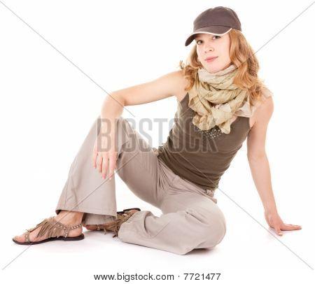 Smiling Trendy Girl