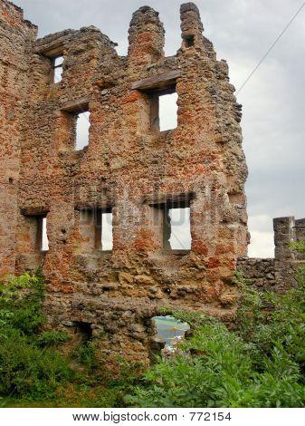 Ruins on sky