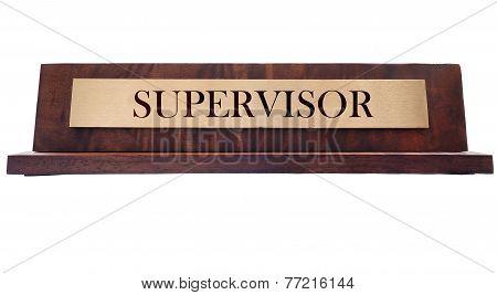 Supervisor Name Plate