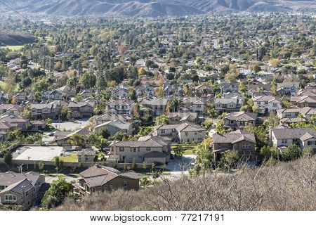 Suburban Simi Valley near Los Angeles, California.