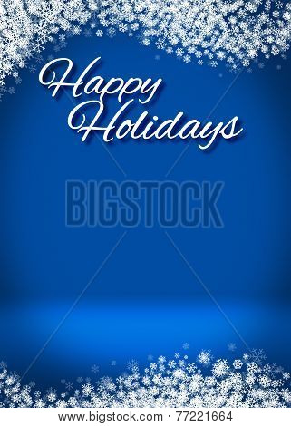 Happy Holidays Winter Background